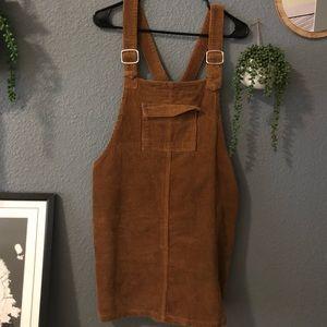 Corduroy Jumper/Overall Dress
